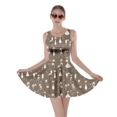Mocha Lovely Cats Pattern Skater Dress