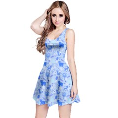 Blue Woodland Animals Pattern Sleeveless Dress by CoolDesigns