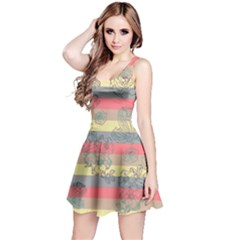 Pinkstripes Sleeveless Skater Dress by CoolDesigns