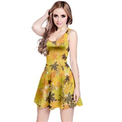 Yellow Leaves 2 Reversible Sleeveless Dress