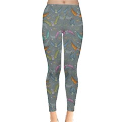 Colorful Night Pattern With Cartoon Bats Childish Women s Leggings by CoolDesigns