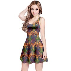 Colorful Pattern With Macaw Parrots Hand Drawn Short Sleeve Skater Dress by CoolDesigns