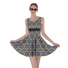Blue Arabic Pattern In Editable File Skater Dress