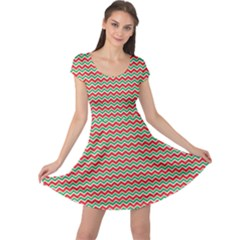 Xmas Zigzag Cap Sleeve Dress by CoolDesigns
