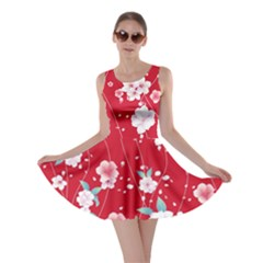 Red Blossom Skater Dress by CoolDesigns