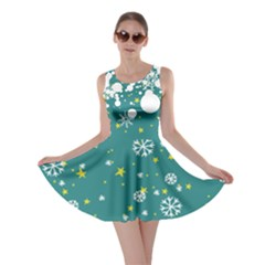 Let It Snow Turquoise Skater Dress by CoolDesigns