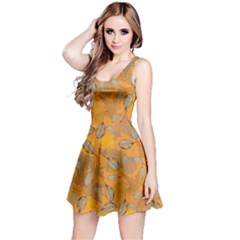 Yellow Leaves  Reversible Sleeveless Dress by CoolDesigns