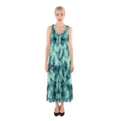 Green Tie Dye Sleeveless Maxi Dress by CoolDesigns