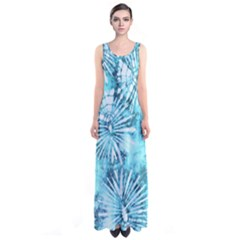 Aqua Tie Dye Sleeveless Maxi Dress