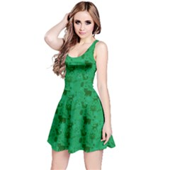 Green Woodland Animals Pattern Sleeveless Dress by CoolDesigns