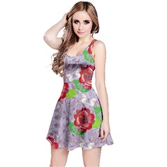 Violet Paisley Sleeveless Dress by CoolDesigns