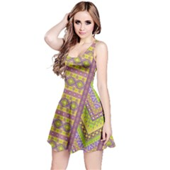 Yellow Tribal Sleeveless Dress by CoolDesigns