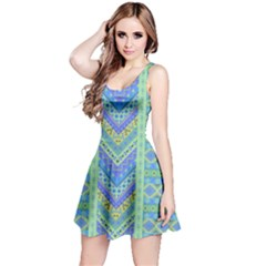 Blue Tribal Sleeveless Dress by CoolDesigns