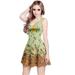 Light Green Nuts Reversible Sleeveless Dress by CoolDesigns