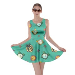 Frizzle Clock Green Skater Dress by CoolDesigns