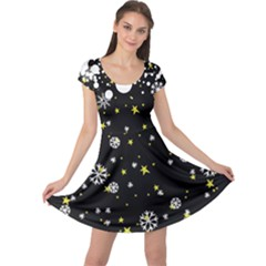 Stars In Dark Cap Sleeve Dress by CoolDesigns