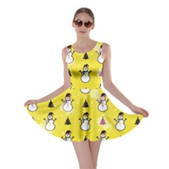 Yellow Snowman Skater Dress by CoolDesigns