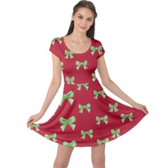 Ribbon On Red Cap Sleeve Dress by CoolDesigns