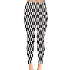 Black On The Topic Chess Leggings by CoolDesigns