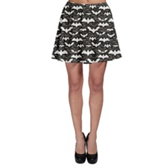 Black Halloween Pattern Skater Skirt by CoolDesigns