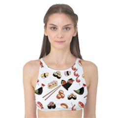 Colorful Pattern With Japanese Food Tank Bikini Top by CoolDesigns