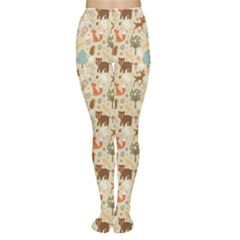 Colorful Colorful Woodland Animals Pattern Tights by CoolDesigns
