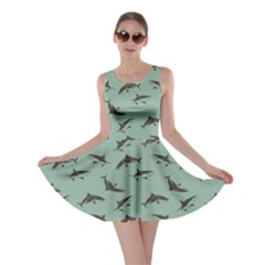 Turquoise Pattern Sharks Skater Dress by CoolDesigns