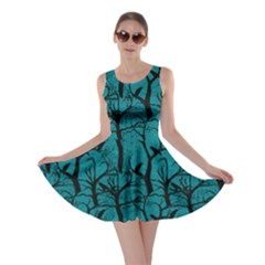 Turquoise Ravens Skater Dress by CoolDesigns