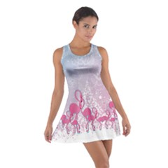 Lace Flamingo Cotton Racerback Dress by CoolDesigns