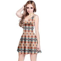 Orange Aztec Sleeveless Dress by CoolDesigns