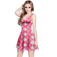 Hot Pink Aztec Sleeveless Dress