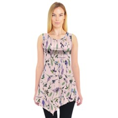 Pinky Floral Sleeveless Tunic Top by CoolDesigns