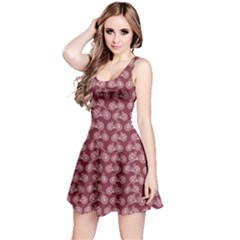 Wine Vintage Bicycles Outline Pattern Sleeveless Dress by CoolDesigns