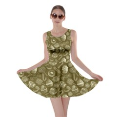 Olive Yummy Colorful Sweet Lollipop Candy Macaroon Cupcake Donut Seamless Skater Dress