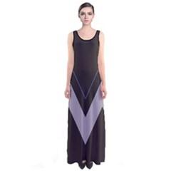 Dark Chevron Sleeveless Maxi Dress by CoolDesigns