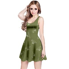 Olive Tyrannosaurus Sleeveless Dress by CoolDesigns