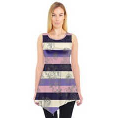Pink Stripes Sleeveless Tunic Top by CoolDesigns