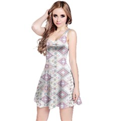 White Aztec Sleeveless Dress by CoolDesigns