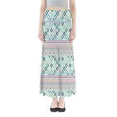 Mint Diamonds Maxi Skirt by CoolDesigns