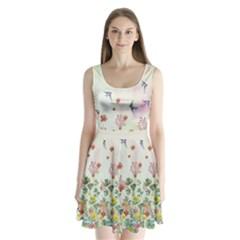 Birdy Split Back Mini Dress  by CoolDesigns