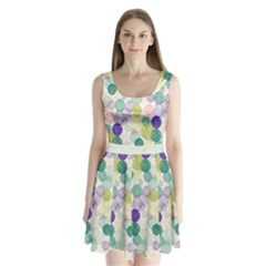 Color Ball Split Back Mini Dress  by CoolDesigns