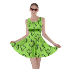 Neon Green Halloween Skater Dress by CoolDesigns