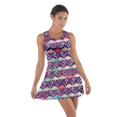 Flamingo Pattern Cotton Racerback Dress by CoolDesigns