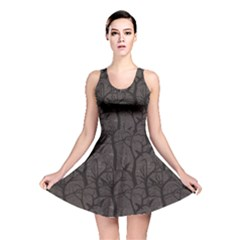 Black Pattern With Ravens Reversible Skater Dress by CoolDesigns