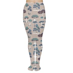 Blue Colorful Mushrooms Pattern Tights by CoolDesigns