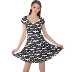 Black Halloween Pattern Cap Sleeve Dress by CoolDesigns