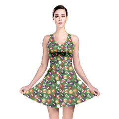Colorful Set Of Color Billiards Balls Pattern Reversible Skater Dress by CoolDesigns