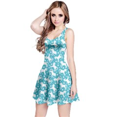 Mint 2 Unicorn Seamless Sleeveless Skater Dress by CoolDesigns