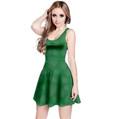 Green Halloween Spider Web Pattern Skater Dress by CoolDesigns