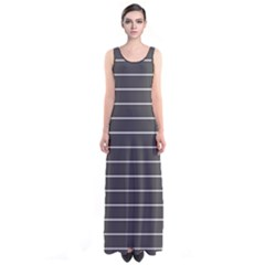 Gray Stripes Sleeveless Maxi Dress by CoolDesigns